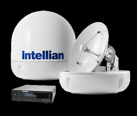 Sistema de TV por satélite Intellian i6p com Automatic Skew Angle Control System