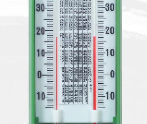 Psicrómetro em caixa plástico 300X110mm