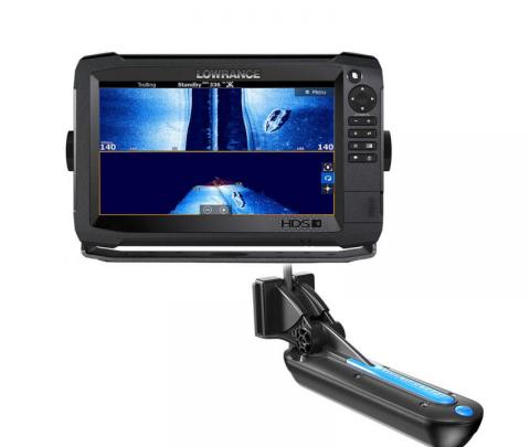 Lowrance HDS-9 Carbon completo com transdutor popa TotalScan 83/200/chirp alto/chirp médio/Down image/side image