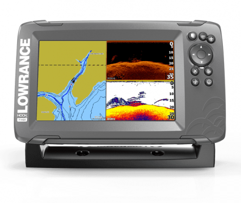 Lowrance GPS Plotter /Sonda HOOK2-7 Splitshot CE ROW
