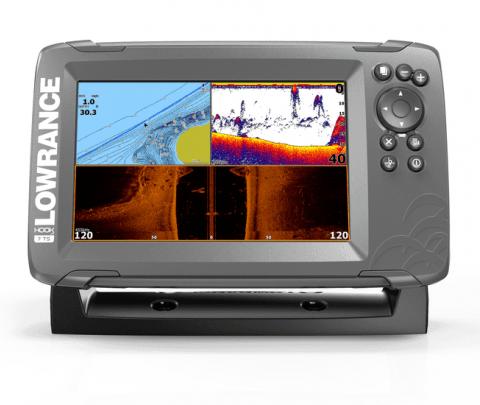 Lowrance GPS Plotter /Sonda HOOK2-7 TripleShot CE ROW