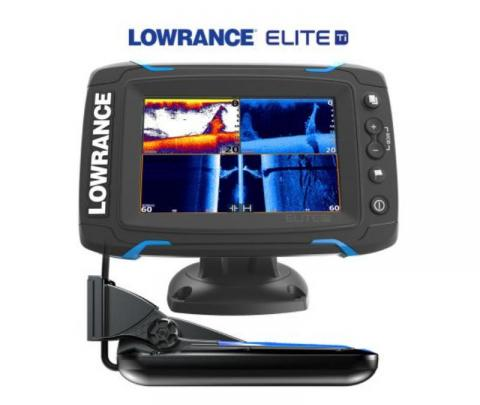 Lowrance Elite 5 Touch completo com transdutor popa TotalScan 83/200/chirp alto/chirp médio/Down image/side image