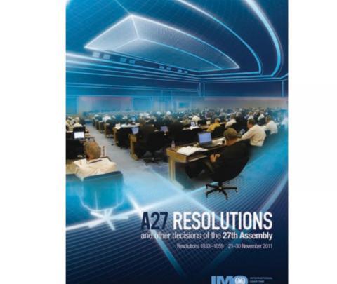 IMO I27E- 27th Session 2011 (Res. 1033 - 1059)