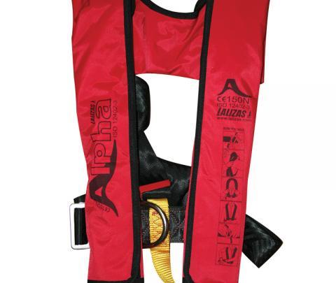 Colete salva-vidas Insuflável  automático Alpha 170N, CE ISO 12402 - 3