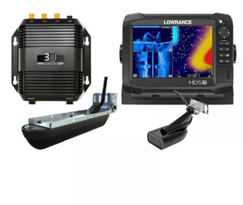 Lowrance HDS-7 Carbon completo com transdutor popa  83/200/chirp alto/chirp médio + transdutor 3D  / Side scan / down image  + 360º