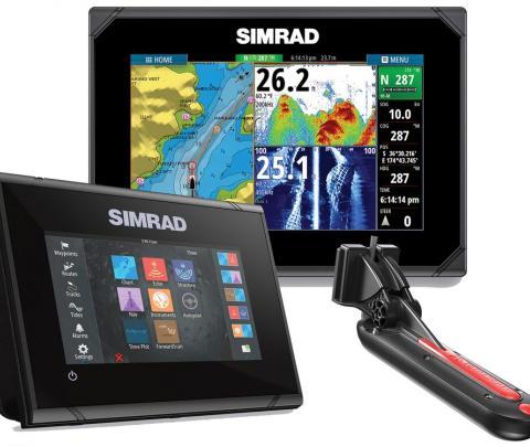 Simrad GO7 XSR com transdutor popa Active Image 83/200/chirp alto/chirp médio/Down image/side image