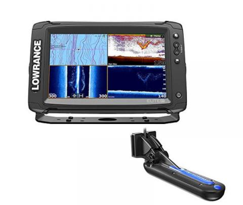 Lowrance Elite 12 TI Touch completo com transdutor popa TotalScan 83/200/chirp alto/chirp médio/Down image/side image